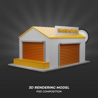 倉庫3dモデル