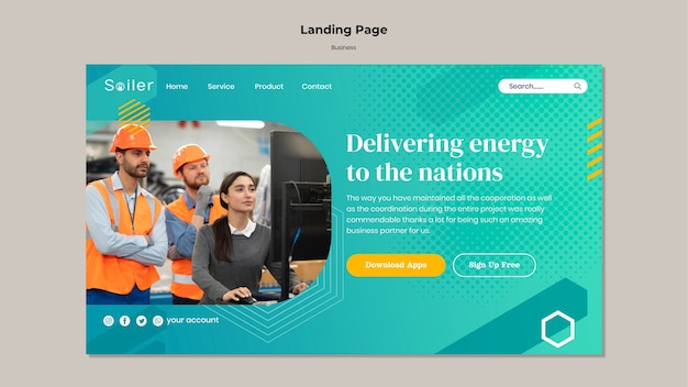 Warehouse business landing page