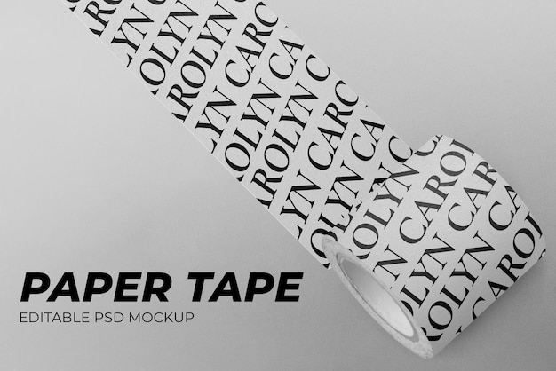 Washi tape mockup psd per arti e mestieri