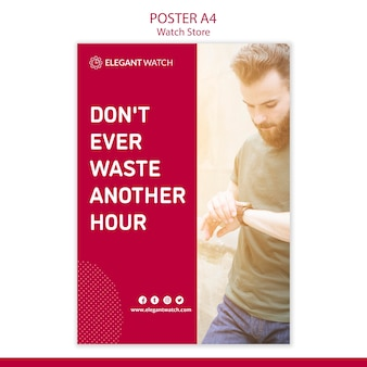 Don't waste another hour poster template