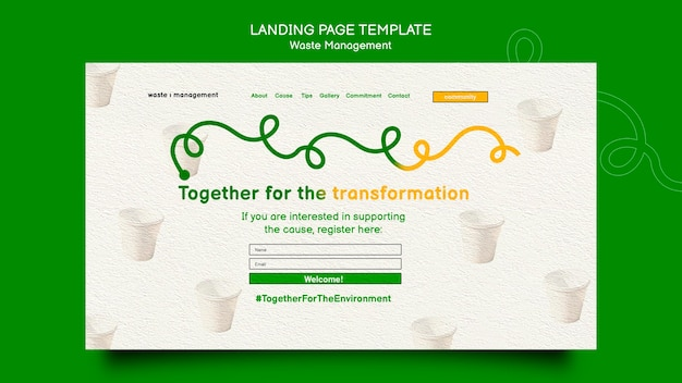 Waste management web template