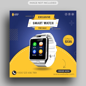 Watch brand product social media post, instagram post and banner