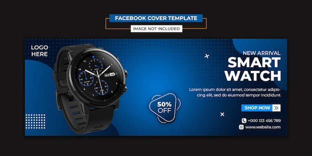 Watch product social media and facebook cover template