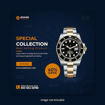 Watch sale social media instagram post banner