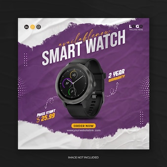 Watch sale social post product instagram promotional square psd template