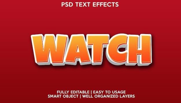 Watch text effect