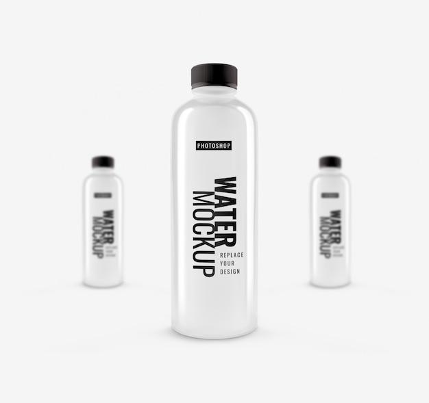 水のボトルのモックアップ3dレンダリング