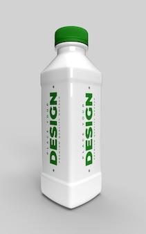 牛乳またはフレッシュドリンク製品の水ボトルモックアップ