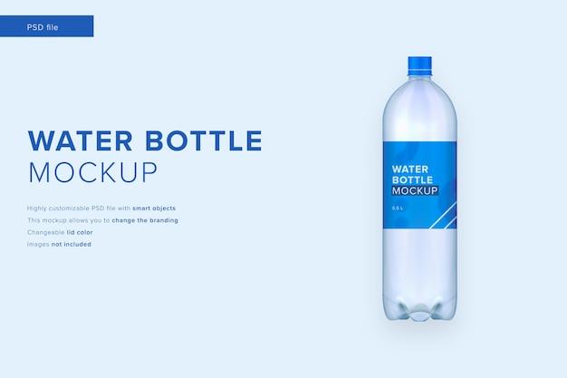 Макет бутылки с водой в стиле современного дизайна