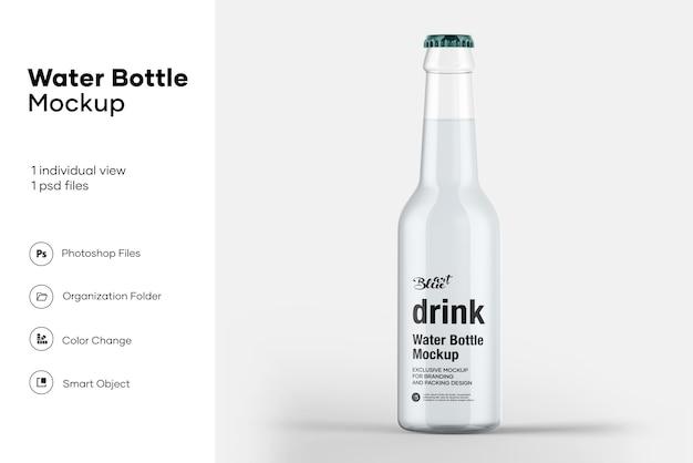 Мокап бутылки с водой