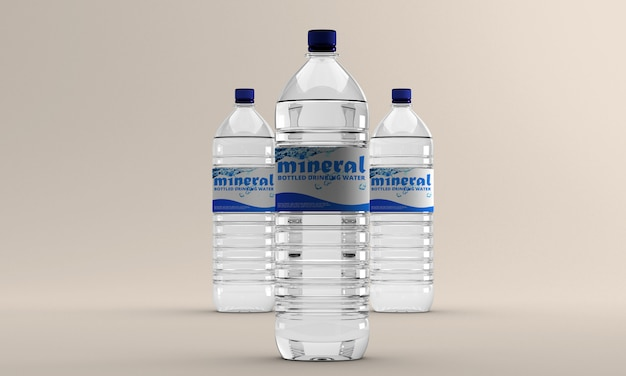 Water bottle mockup