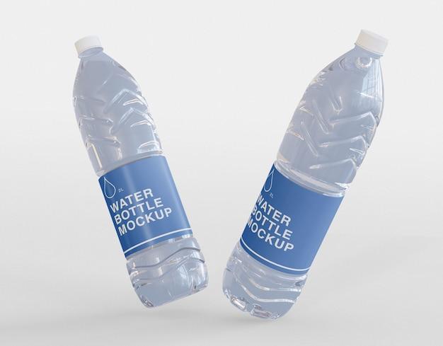 Мокап бутылок с водой