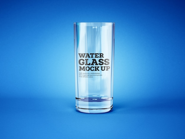 Water and cocktail glass mockup