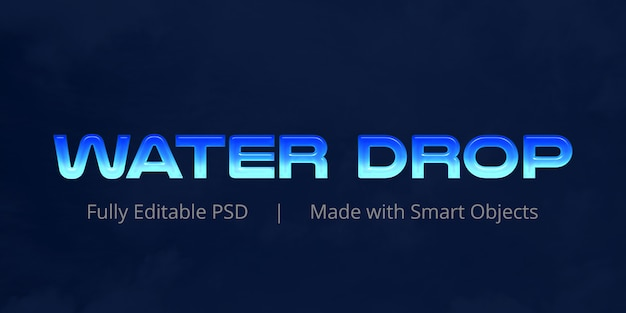 Water drop text effect