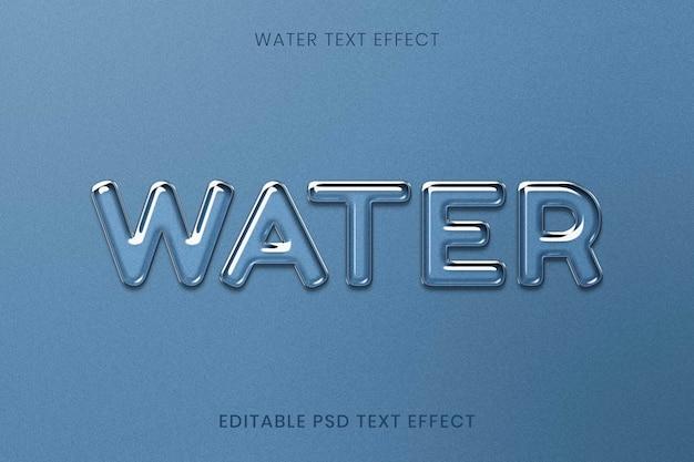 Effetto di testo psd modificabile con acqua