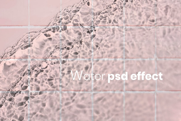 Water psd effect, photoshop add-on
