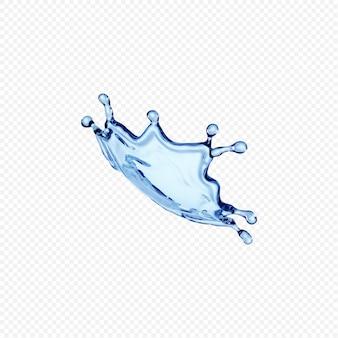 물 얼룩 투명 절연