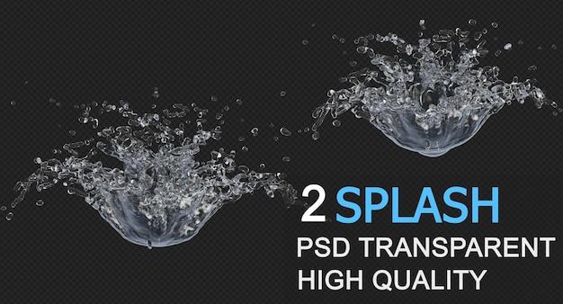 液滴分離設計による水のしぶき