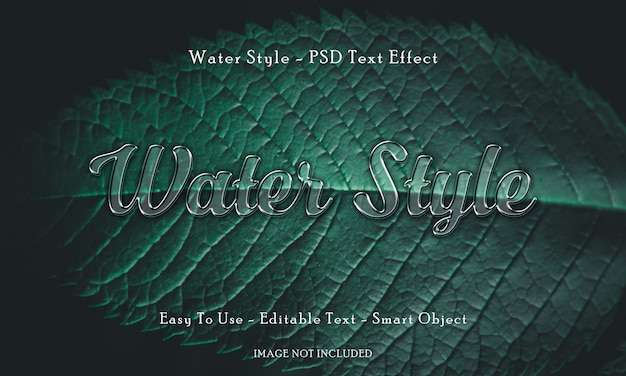 Water style 3d text effect