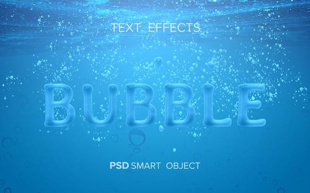 Макет эффекта текста на воде