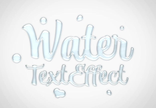 Water text effect mockup