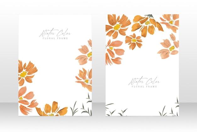 Watercolor floral feminine wedding invite botanical card
