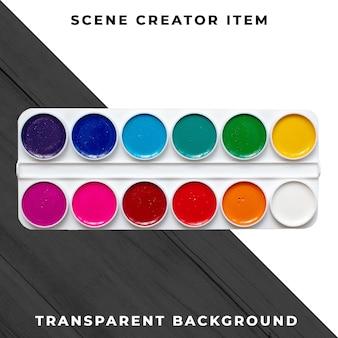 Watercolor object transparent psd