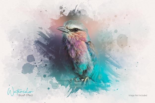 Шаблон фотоэффекта акварельной масляной краской