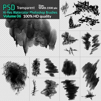 Watercolor photoshop png brushes
