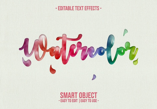 Watercolor text style effect
