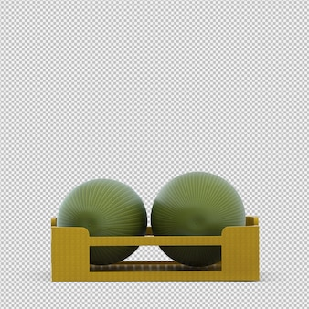 Watermelon 3d render
