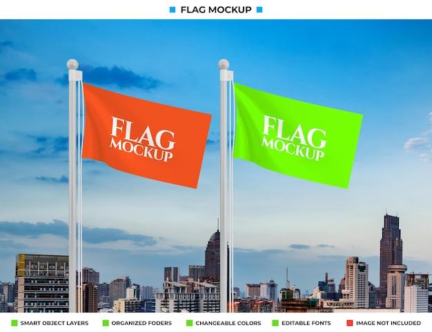 Рендеринг дизайна макета волнового флага