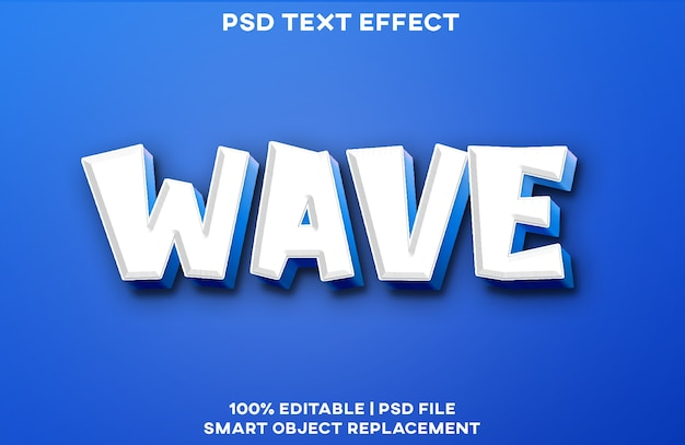 Шаблон стиля текстового эффекта волны
