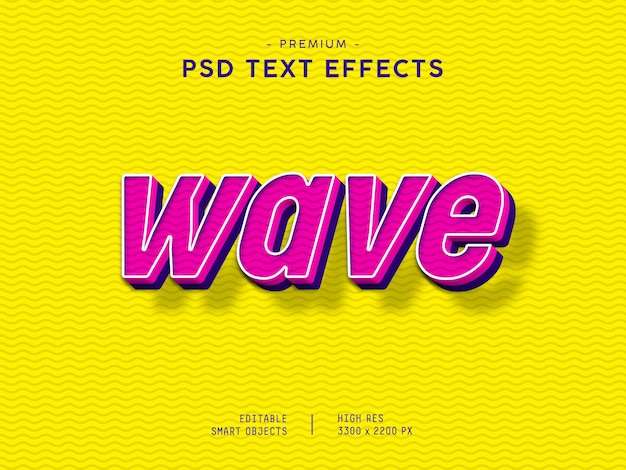 Wave text effect