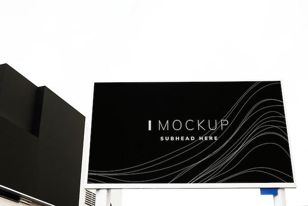 Wave texture billboard design mockup