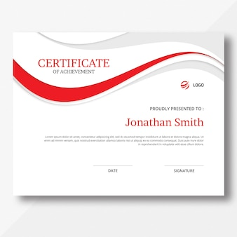Waves certificate template