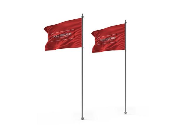Размахивая флагом 3d макет дизайна