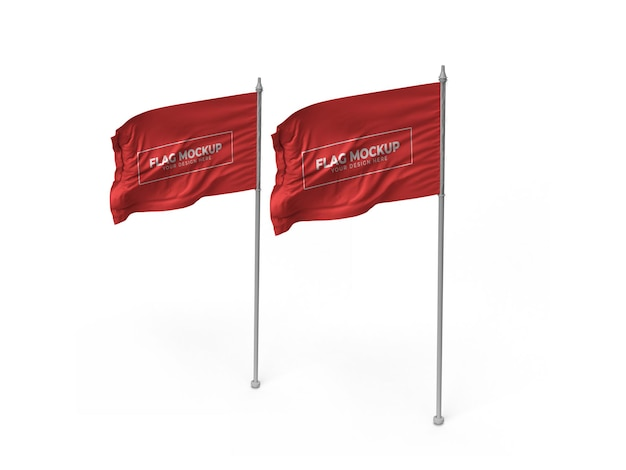 흔들며 깃발 3d 모형 디자인