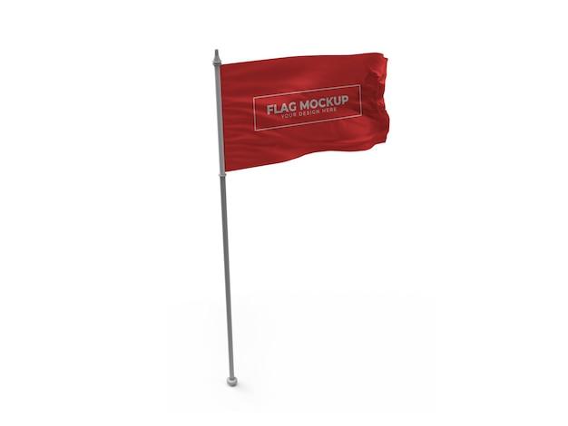 흔들며 깃발 3d 모형 격리 된 디자인
