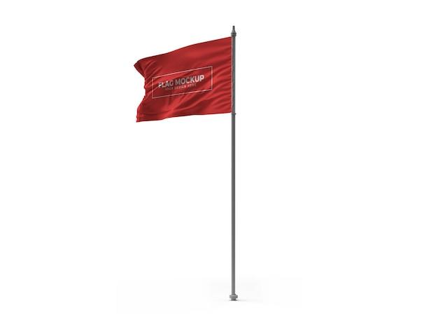 Размахивая флагом макет дизайна изолированные