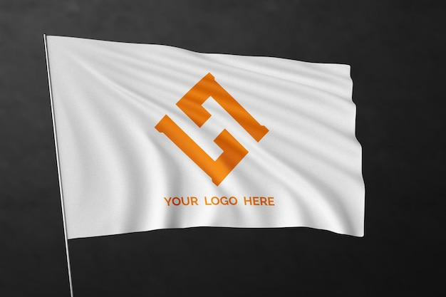 Waving flag mockup