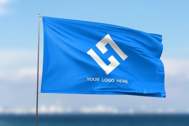 Макет развевающегося флага