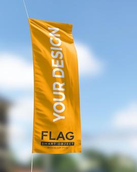 Modello di bandiera sventolante