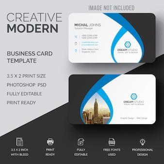 Wavy business card mockup
