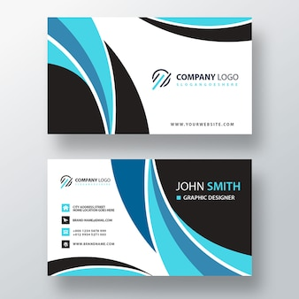 Wavy shape business card