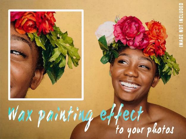 사진에 왁스 페인팅 효과