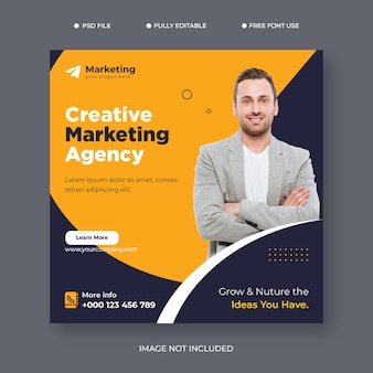 We are creative agency and corporate business flyer vector