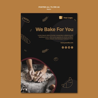 We bake for you flyer template