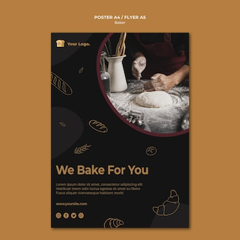 We bake for you poster template