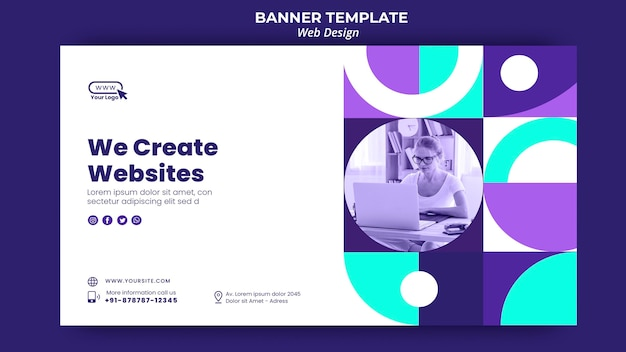 We create websites banner template